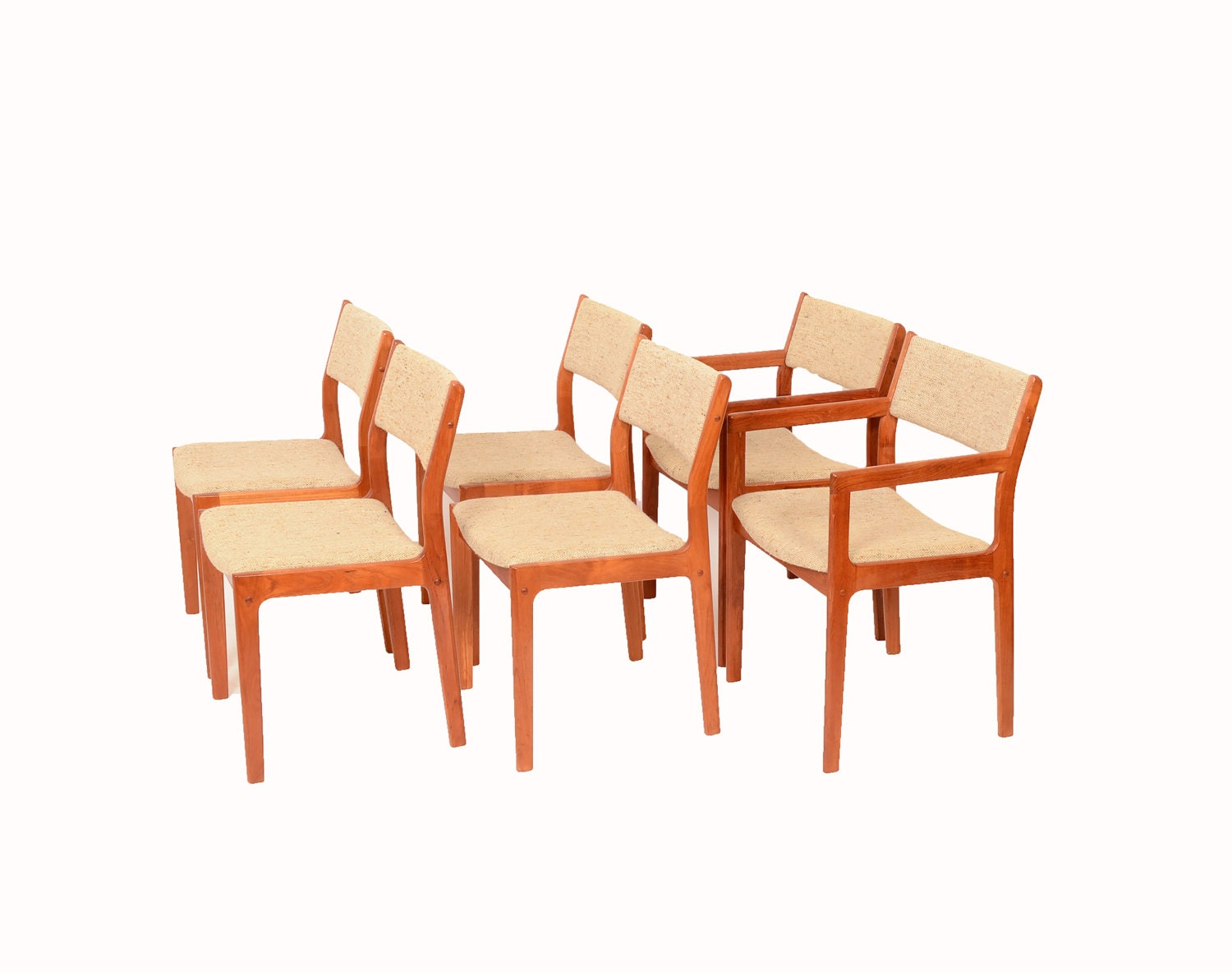 6 Teak Dining Chairs D Scan Danish Modern 70s