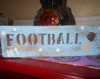 Football Sign Rustic