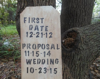Our Wedding First--- Rustic Wood Sign