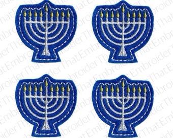 UNCUT Hanukkah Menorah felt applique embellishment hair bow center felties  (4)
