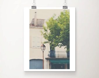 france photograph architecture photography travel photograph french cafe photograph street lamp photograph french decor pastel print