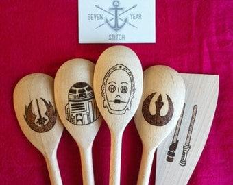 Star Wars 5 Piece Wooden Utensil Set