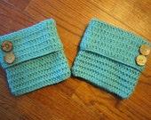 Crochet Teal Boot Cuffs/Boot Toppers