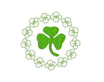 St. Patrick's Day Shamrock Machine Embroidery Design, Clover design, Shamrock embroidery, St. Patrick's day embroidery pattern