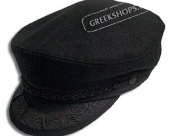 Greek Fisherman's Hat - Wool - Black