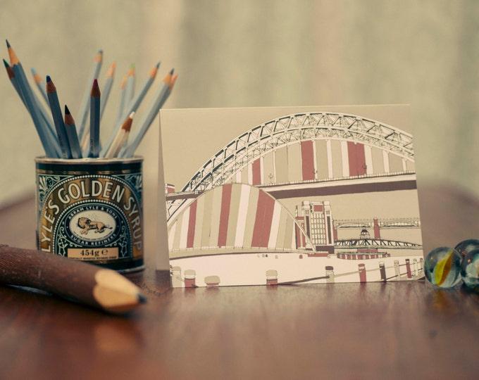 Art / Greeting Card - Bridges of the Tyne & Baltic, Gateshead and Newcastle.