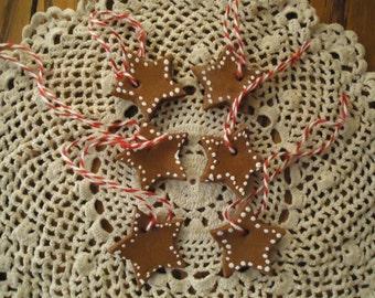 Cinnamon Star Ornaments (set of 6)