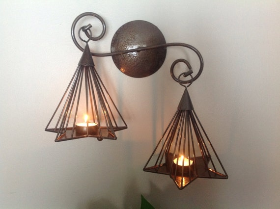 Wall Hung Tea Light Holders : Star Shaped Tea Light Holder Wall Mount Star Tea Light Holder