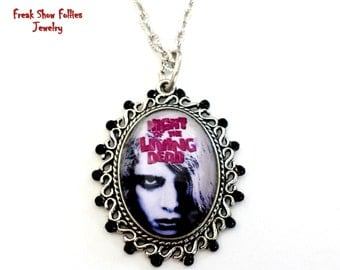 CLEARANCE Night of the Living Dead zombie movie necklace