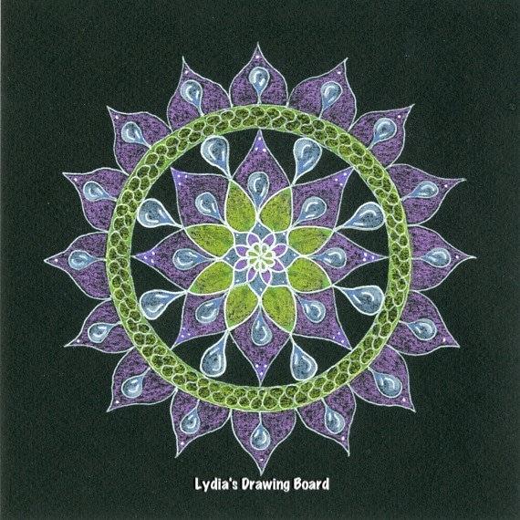 Rainy Day, Mandala, Mandala Art, Mandala Wall Art, Mandala Print, Mandala Decor, Dreamy, Peaceful Art, Meditation, Meditation Art, Raindrop