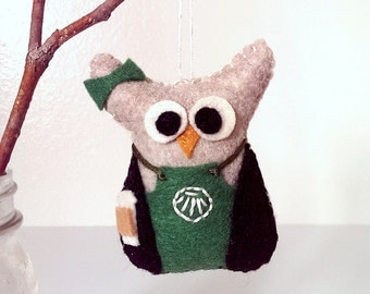 Starbucks Owl Ornament / Starbuck ornaments / Gift for coffee lovers / Coffee owl / Starbucks Christmas ornament