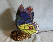 RESERVED FOR PAM Nightlight - Stained Glass Butterfly