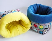SAVE SHIPPING: 2x cosy cuddle sack / sleeping bag XXL for guinea pigs or hedgehogs (colourful hedgehogs)