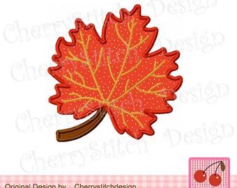 Autumn Leaf Applique 01,Autumn Embroidery Design -for 4x4 5x7 6x10 hoop-Machine Embroidery Applique Design