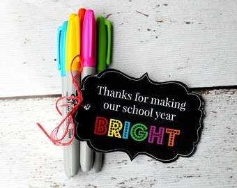 INSTANT Download Thanks for making our school year BRIGHT 2 - TEACHER Appreciation School Card gift  Printable Download
