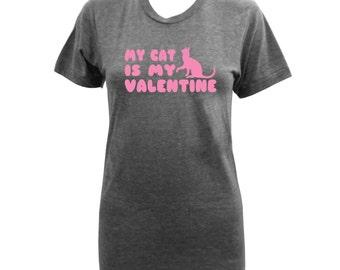 My Cat is My Valentine Ladies Arch - Athletic Grey