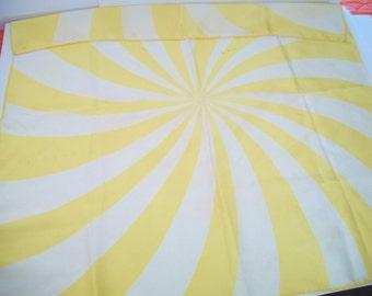 vintage yellow spiral scarf