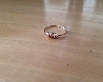 Gold Wire Wrapped Midi Ring