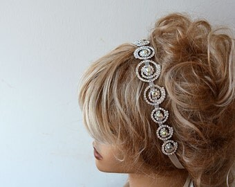 Wedding Hair Accessories, Rhinestone Headband,  Wedding Headband, Bridal Headband, Bridal Hair Accessory