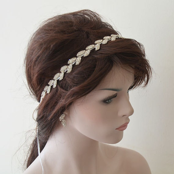 bridal hair accessory rhinestone headband wedding hair. Black Bedroom Furniture Sets. Home Design Ideas