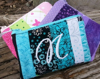 Personalized Coin Purse, Patchwork Zipper Wallet, Girl's Change Purse