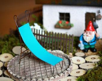 Fairy Garden Slide miniature for terrarium or mini garden furniture playground robin's egg blue