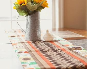 Reversible Autumn Print Table Runner