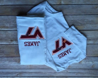 Virginia Tech Onesie, Bib, and Burp Cloth Set (personalized)