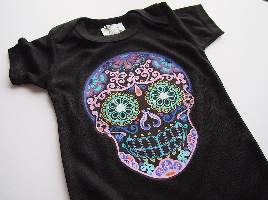 Trendy Baby Sugar Skull Clothes Month Bonesnelson
