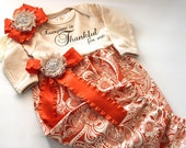 Newborn Layette Gown - Thanksgiving / Fall