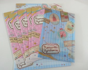 Yummy Macaron Letter Set  - 12 Sheets and 6 Envelopes