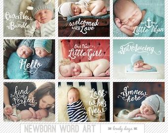 Photo Overlays Newborn Word Art INSTANT DOWNLOAD