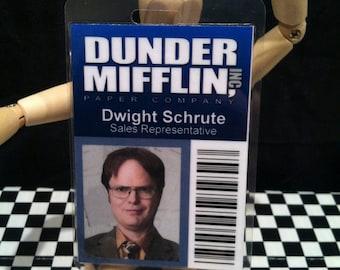 Dwight Schrute - Dunder Mifflin - The Office ID - prop replica ID badge