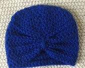 Made-to-order baby turban in royal blue