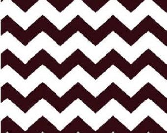 1/2 inch Chevron --- Brown Chevron  -- Small Chevron --- Fabric By The Yard