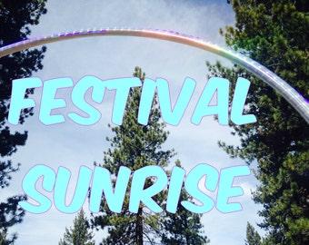 Festival Sunrise Specialty Taped Practice Hoop -  By Colorado Hoops