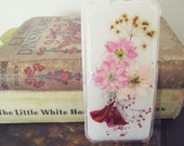 Pink Assortment Real Pressed Flowers (larkspur) iPhone 5C Clear Case