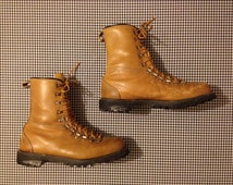 brown leather hiking/work boots, Men's size 9 1/2 E