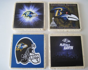 Baltimore Ravens Football Coasters - Set of 4