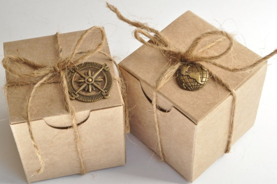 small favor box favours kraft box party favor rustic wedding favor