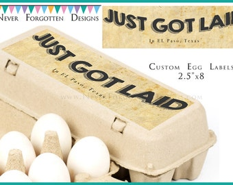 "2.5"" x 8"" Egg Carton Labels, Customized Label Perfect for Chicken Coop for Backyard Chickens Keepers"