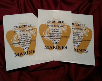 United States Marine Corps (USMC)  Crucible Candle Decal (RATIONED MRE's)