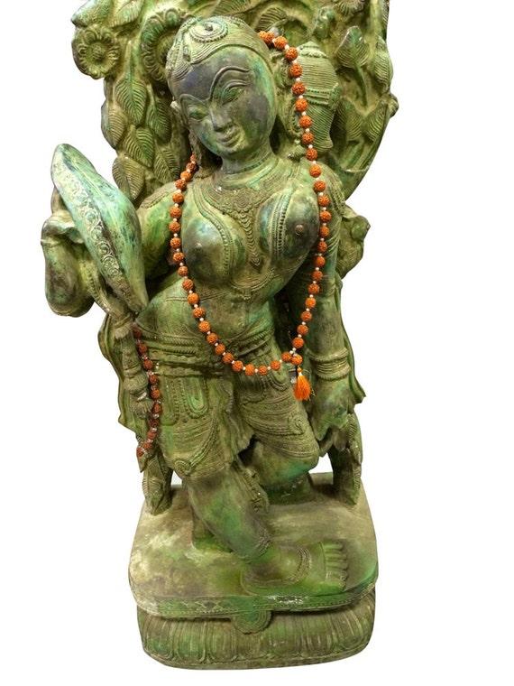 Old Garden Statue: Indian Antique Garden Statue Brass Sculpture By MOGULGALLERY