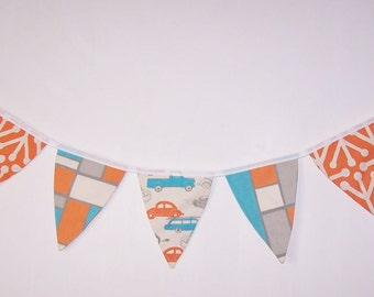 Fabric Bunting. Flags. Banner. Wedding Banner. Party Banner. Baby Shower Bunting. Wedding  Bunting. Mandarin Orange. Ready To Ship