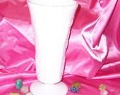 Milk Glass Large Vase -  Colony Harvest
