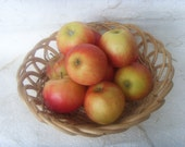 Fruit Bowl - Hadmade Wooden Fruit Bowl - Soviet Vintage Fruit Bowl Made in USSR in 1980s
