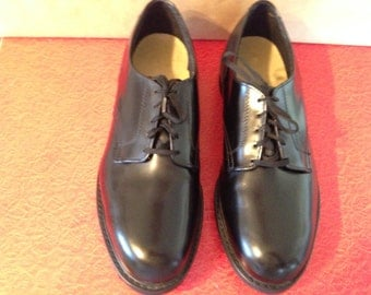 Leather Mens Steel Toe Oxfords