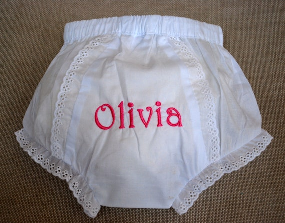 Monogrammed Bloomers- Size 1, 2, or 3