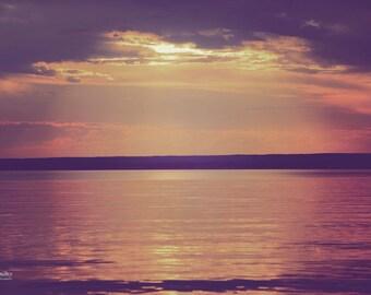 "Fine Art Photo - Title: ""Abyss"" - billi j miller photography - Saskatchewan, lake, sunlight, reflection, tranquil, landscape, sunset"