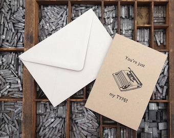 Letterpress Card - Just my type
